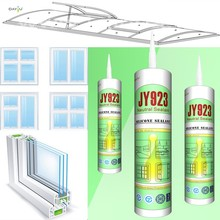 Top quality glass clear broad adhesion construction glazing renovation silicone sealant JY923
