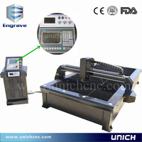 UNICH new type cnc plasma iron cut machine/auto cad plasma cutting machine