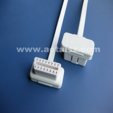 White ribbon J1962 OBDII gps tracking cable