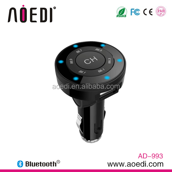 2014 Hot Sale Handsfree Bluetooth Car Kit With Perfect Sound Quality With FM Transmitter From China Supplier AD-993