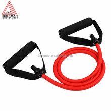 (HERRMAN)Heavy duty latex exercise tube door gym resistance band with foam handles