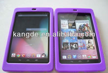 Purple protective rubber tablet case for Nexus 7