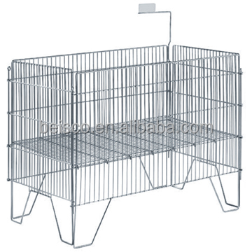 Easy to assemble wire container/Wire mesh cages/Warehouse steel storage box