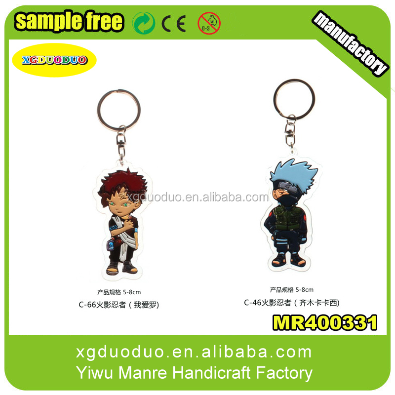 Factory custom wholesale PVC keychains promotion keycahin beer keychain