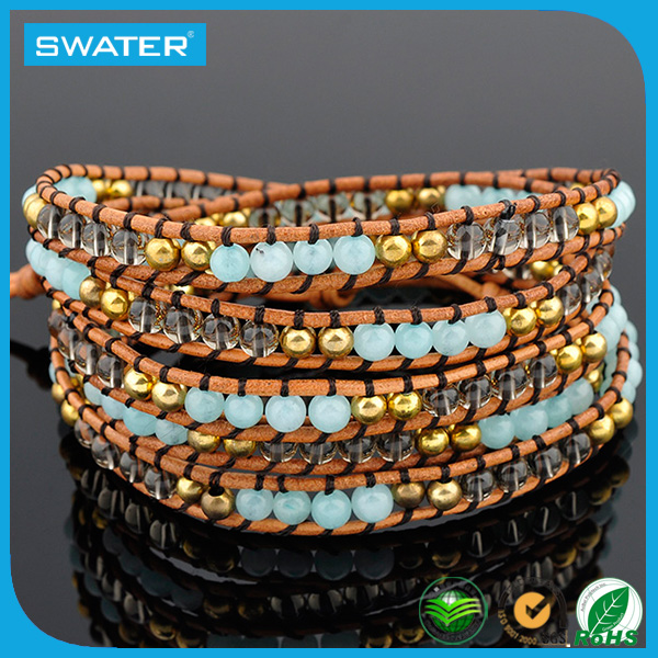 China Wholesale Wrap Bead Bracelet For Glass