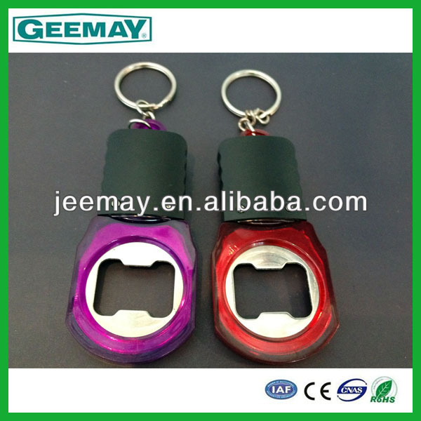 promotion gift bottle opener flashlight usb keychain