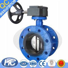 Factory price demco butterfly valve / double flange butterfly valve for sale