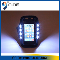 Promotional Sports Reflective LED Armband Running Outdoor Holder for iPhone 5 6s