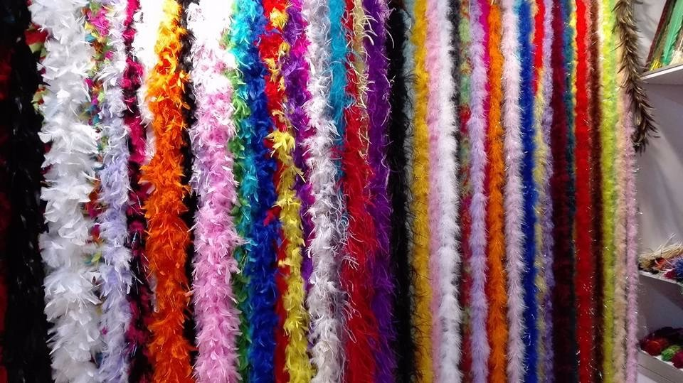 fluffy marabou feather boas 2 meters 15 grams with tinsels