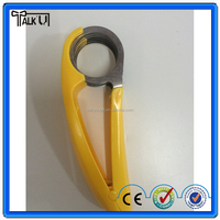 Fruit salad plastic simple banana cutter, as seen on TV kitchen stainless steel blade banana slicer