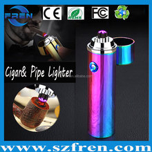 FR-P01 Wholesale Price Windproof Ciga and pipe Lighter /Electric Lighter /USB Lighter