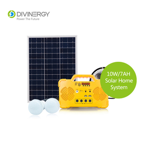 Portable Maintenance Free 10W 12V/7AH Solar Power Home Lighting System With Phone Charger and Radio, MP3