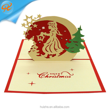 Christmas Folding Greeting Card Thank You Card Birthday Christmas Card Envelope Writing Paper Stationery