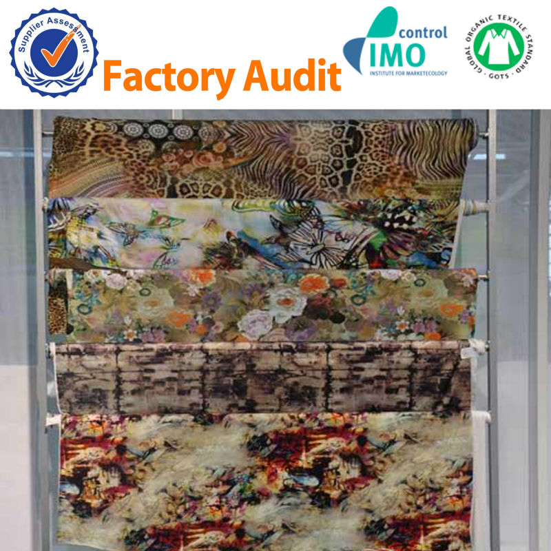Custom 100%polyester fabric digital textile printing