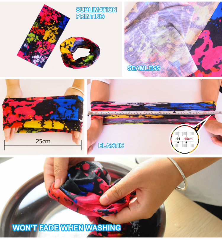 Wholesale Multifunctional Seamless Tubular Bandana With Printing
