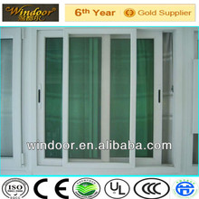 Graceful wood color timber look sliding PVC window,woodgrain color design with reasonable price
