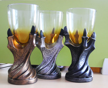 New Style 3D Dragon Claws Resin with Glass Goblet, Cool Design Whisky Tumbler / Beer Cup