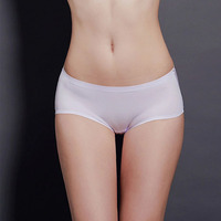 Product price wholesale shiny middle waist panties for women