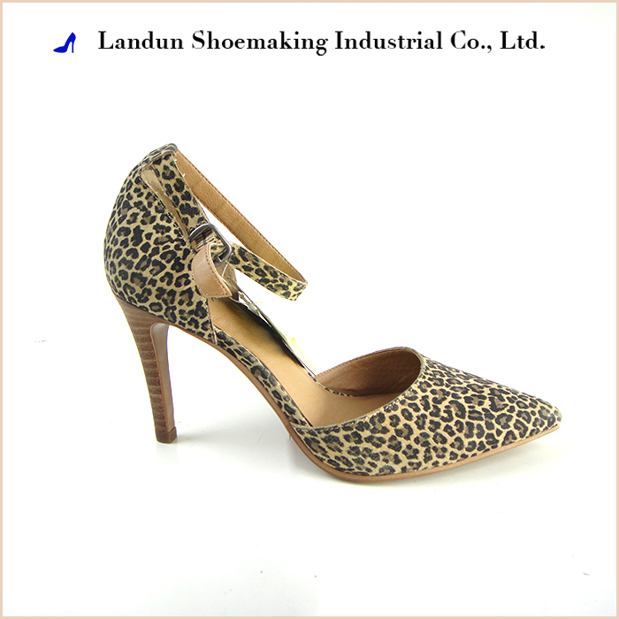 2017 leopard women sexy high heel shoes for sale from china