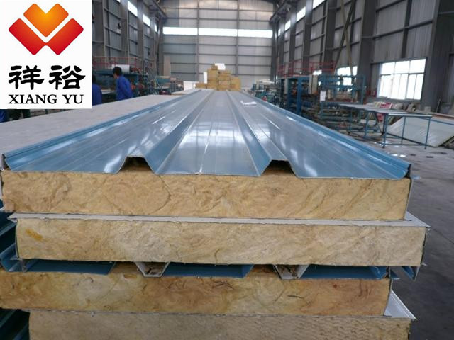 Hot Sale!Rock wool sandwich panel for porta cabins prefab housesl-Waterproof fireproof heat preservation