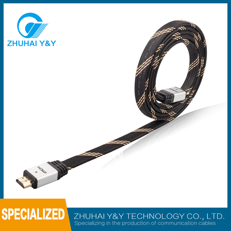 High quality gold-plated male to male sex and HDMI, HDMI plug type waterproof HDMI cable