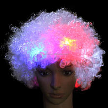 colorful Led wigs for Halloween/Party