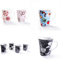 Lovely Cute Little White Black Cat Coffee Milk Cup Reusable Ceramic Mug Cup Exquisite Fashion Kitten Cup 350ml