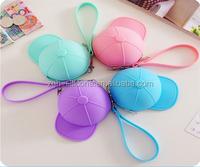silicone cute cartoon candy colored baseball cap Coin Pocket Mini cap bag coin purse for kids