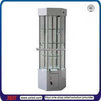 TSD-W980 China supply glass revolving display cabinet/retail glass showcase/lockable glass display cabinets