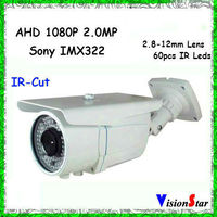 Vision Star 1080P AHD CCTV Camera Manual Zoom IR-Cut AHD Camera IR 50M Outdoor Camera Systems