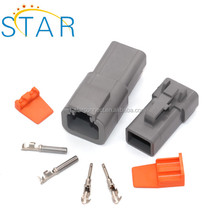 Electric 2 Pin Dt Series Female Electrical Connector Dt06-2s