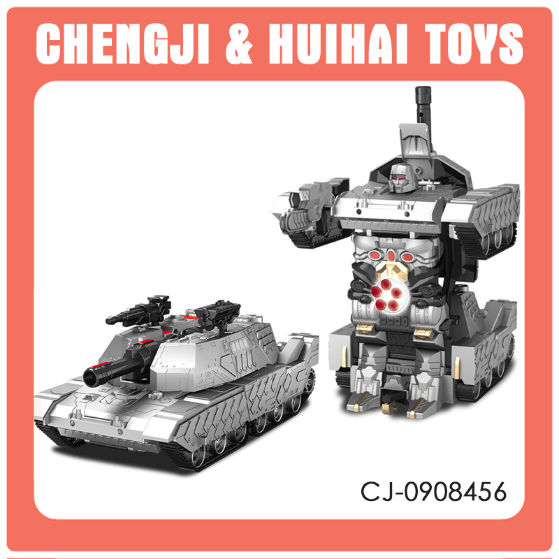 2.4G remote control deformation robot with light and music rc tank 1 10