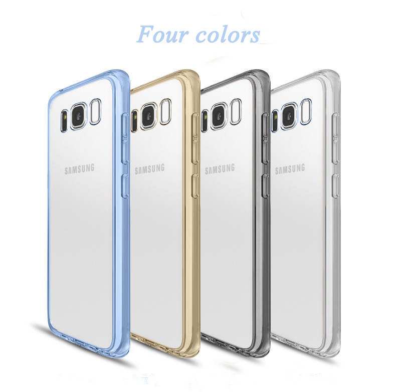 New Hybird Shockproof Clear TPU PC Phone Case Back Cover For Samsung Galaxy S8