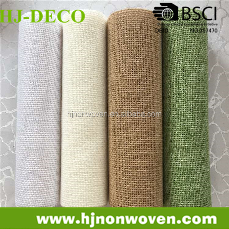 hemp fabric roll for flower wraps and table runner decoration jute roll