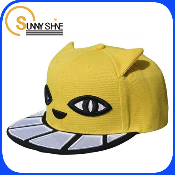 Sunny Shine wholesale white teeth flat brimmed hat hip hop snapback Cap