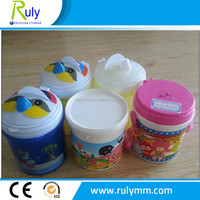 Customed different lid of plastic bucket used for popcorn packing