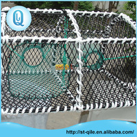 Rectangle durable iron frame pe net crab trap net snow crab pot