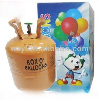 helium-filled gas cylinders balloon helium tank