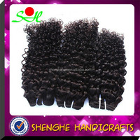 Wholesale Human Hair 18 Inch Nature Color Unprocessed High Quality Peruvian Curl Human Hair