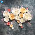 Wholesale cheap new fashion design wall paper flower wall for decoration with freight