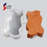 plastic or rubber interlocking paver casting mold