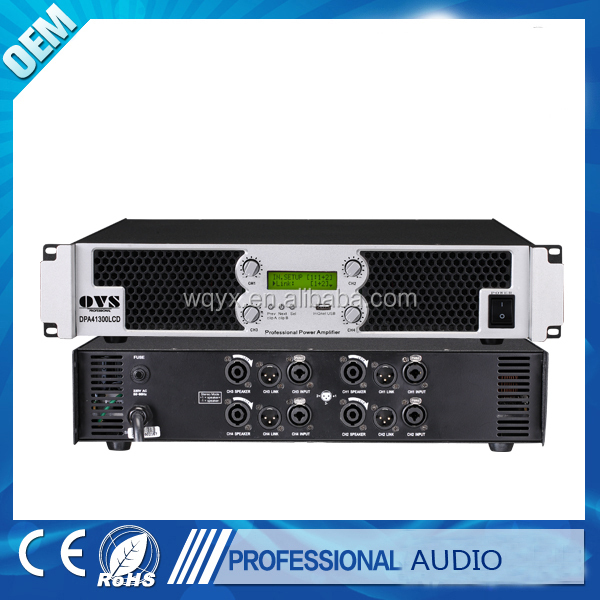 OVS Four Channel 300W to 1300W at 8 ohms Professional digital Power Amplifier DPA Series
