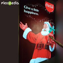 Excellent quality waterproof Double Side display El Glowing Lighting flash Poster for Christmas