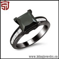 Best Quality New Style Gemstone Set Silver Half Finger Rings