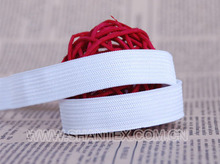 Hot sale white and black braided elastic and knitted elastic tape band