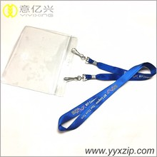 PVC card holder free sample double clip flag of country lanyard