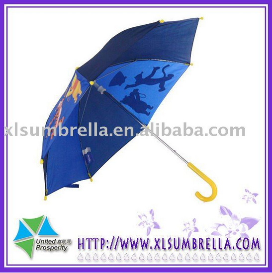 18''Personalized auto cartoon safe stick kid umbrella decoration for kids