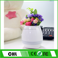 Wholesale Magic Plastic Interaction Music Flower Pot With Bluetooth Speaker LED Lamp