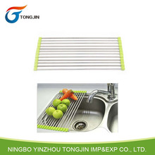 Hot Sale Kitchen Tool Stainless Steel Folding Drain Rack