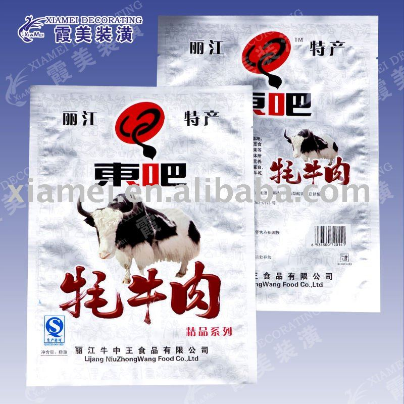 aluminum foil laminating vacuum sealed pouches for meat packaging